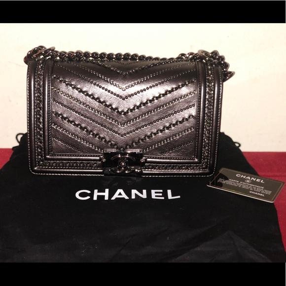 aa86046b6431ce CHANEL Bags | Authentic Metallic Boy Medium | Poshmark